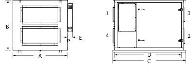 Images Dimensions - ECHO® H2800Xi HRV - Fantech