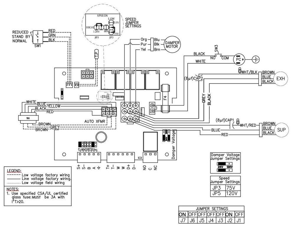 Images Wiring - SHR 150R Fresh Air Appliance - Fantech