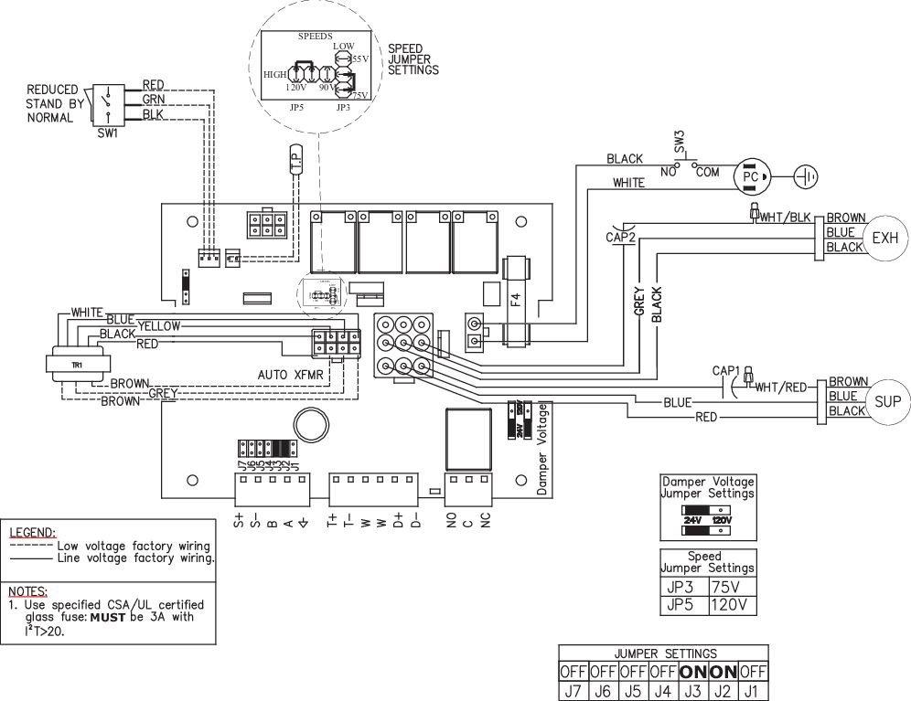 Images Wiring - SHR 200 HRV - Fantech