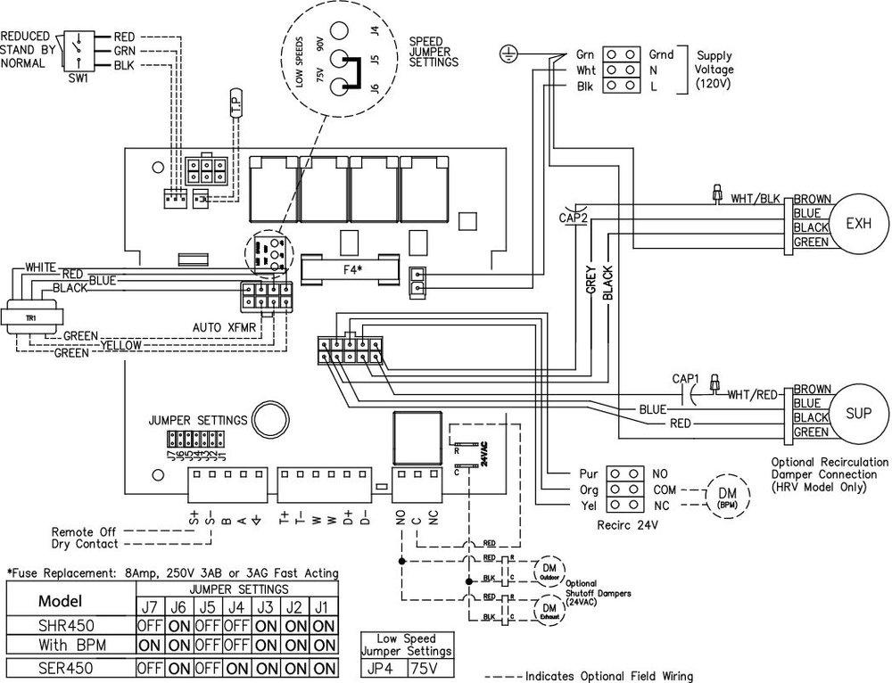 Images Wiring - SER 450 Energy Rec Vent - Fantech