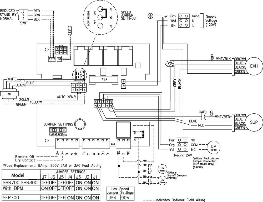 Images Wiring - SER 700 Energy Rec Vent - Fantech