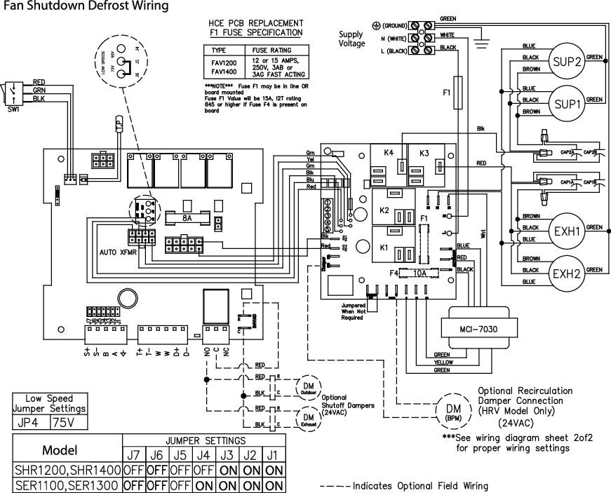 Images Wiring - SHR 1200 Heat Rec Ventilator - Fantech