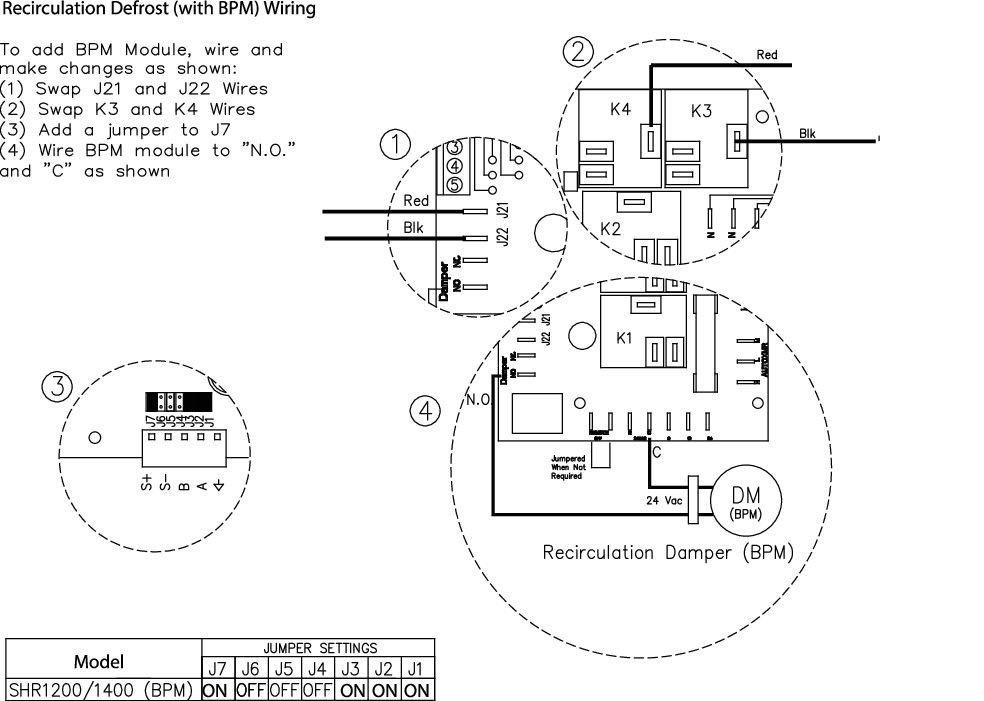 Images Wiring - EFD 24-8, Damper, TFB24 - Fantech