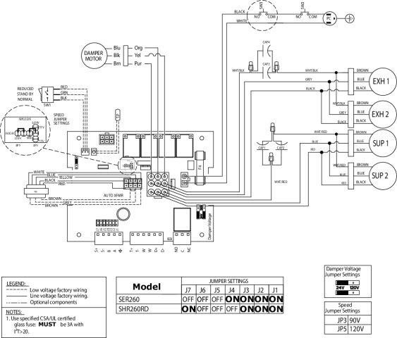 Images Wiring - SHR260RD HRV - Fantech