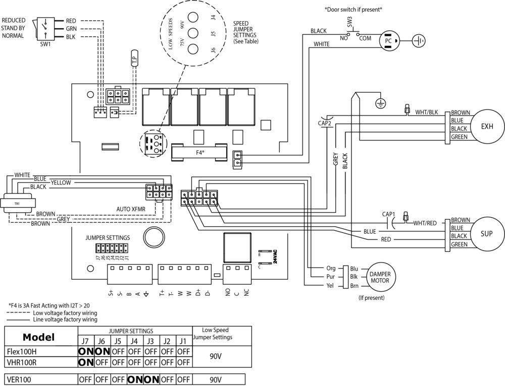Images Wiring - FLEX 100H ES HRV - Fantech