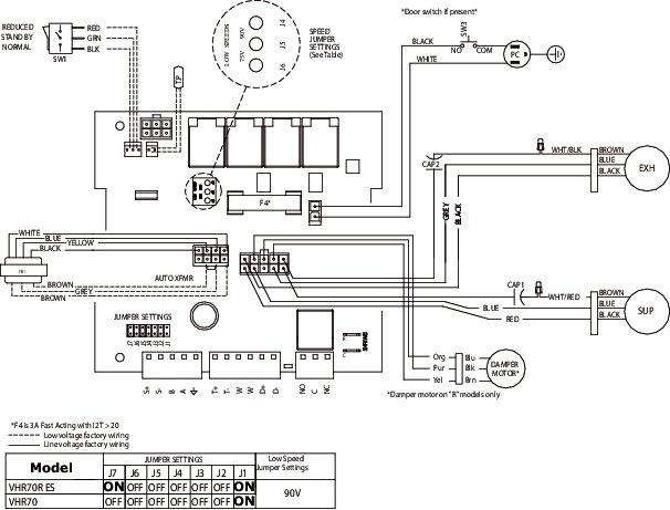 Images Wiring - VHR70R ES Fresh Air Appliance - Fantech