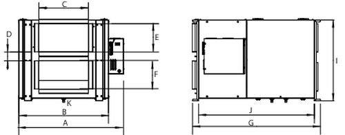 Images Dimensions - SER 450 Energy Rec Vent - Fantech