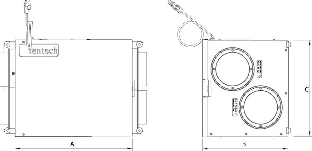 Images Dimensions - AEV80 - Fantech