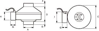Images Dimensions - DPV 22-2 Ventilateur DEDPV - Fantech