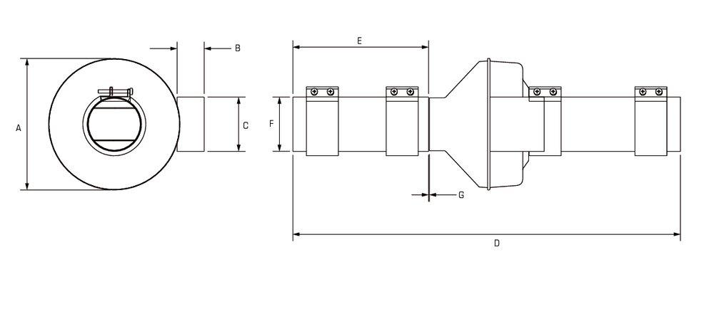 Images Dimensions - DEDPV-705 UL Listed Ventilator - Fantech