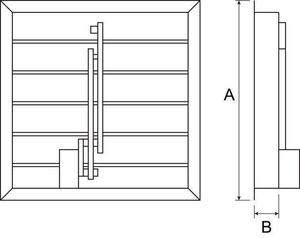 Images Dimensions - 1ACC54MD Motorized Damper - Fantech