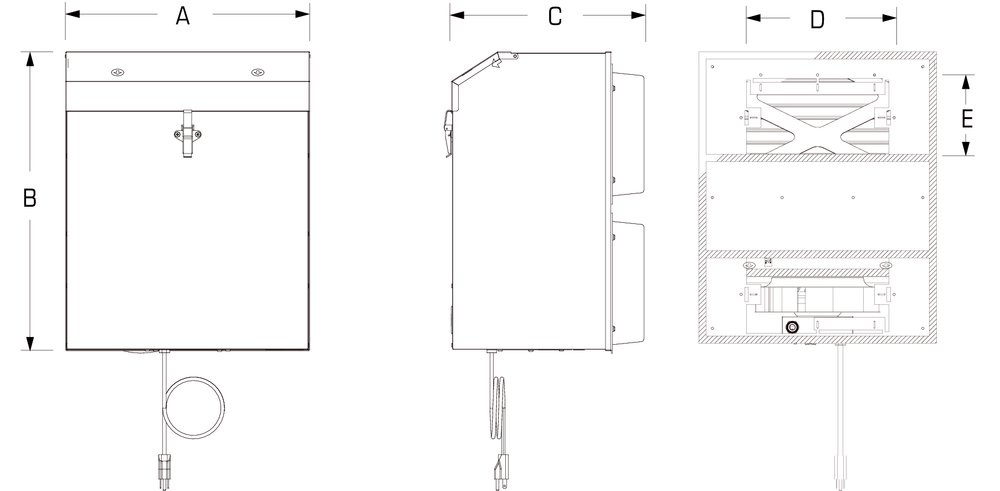 Images Dimensions - DM 3000P HEPA Filtration Unit - Fantech
