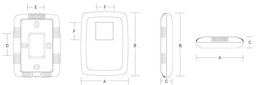 Images Dimensions - EDF7 Electronic Dehumidistat - Fantech
