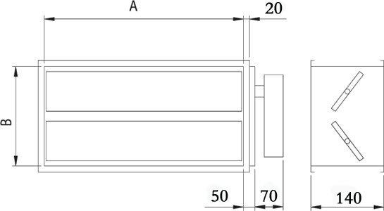 Images Dimensions - EFD 34-14 Reg. à servomoteur - Fantech