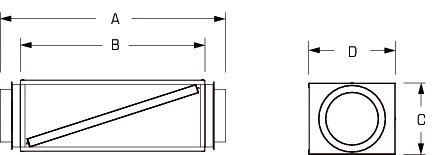 Images Dimensions - FB 6 Inline Filter Box MERV13 - Fantech