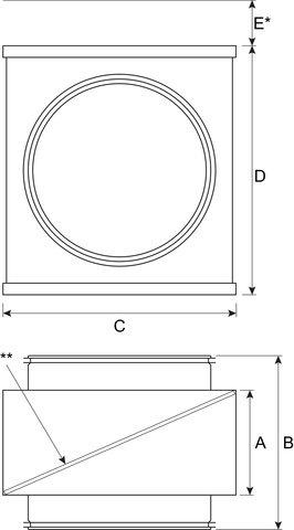 Images Dimensions - FGR 12 Filter Cassette - Fantech