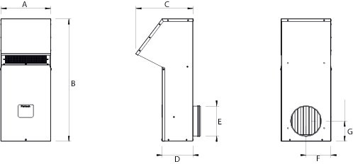 Images Dimensions - FML6R Hotte de Montage - Fantech