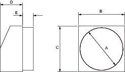 Images Dimensions - FML 14 Metal Supply Hood - Fantech