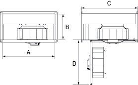 Images Dimensions - FRD 20-10 Rect. Inline Fan - Fantech