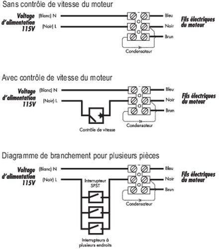 Images Wiring - FR 110 Ventilateur en ligne - Fantech