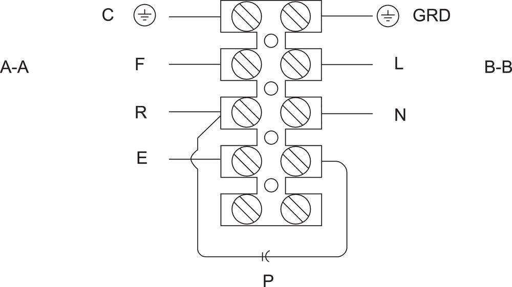 Images Wiring - FSD 20 Ventilateur Carré - Fantech