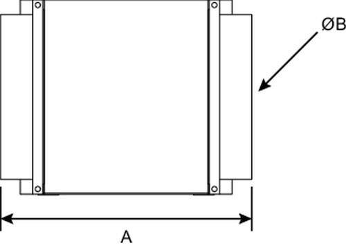 Images Dimensions - MUAH 10/10 chauffage 10, 10kW - Fantech