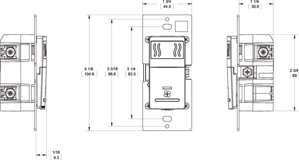Images Dimensions - IPHS5 Humidity / Fan Control - Fantech