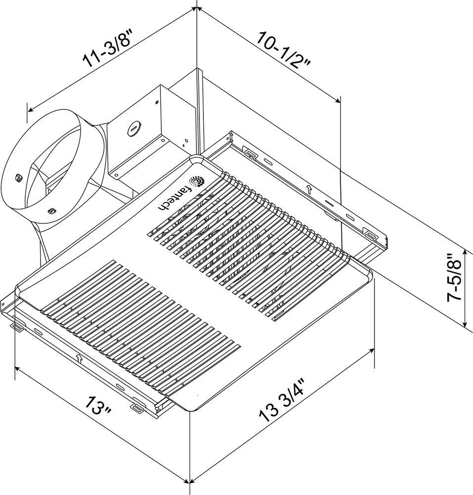 Images Dimensions - PRO™ 150 Exhaust Fan - Fantech