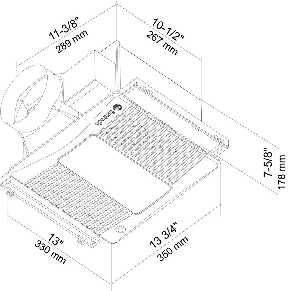 Images Dimensions - PRO PLUS™-L Exhaust Fan - Fantech