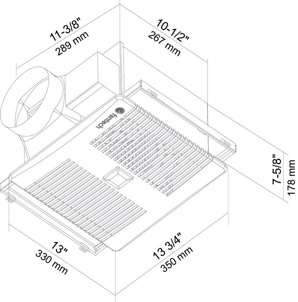 Images Dimensions - PRO PLUS™ Exhaust Fan - Fantech