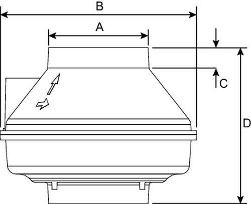 Images Dimensions - Rn1 Vent pour Radon - Fantech