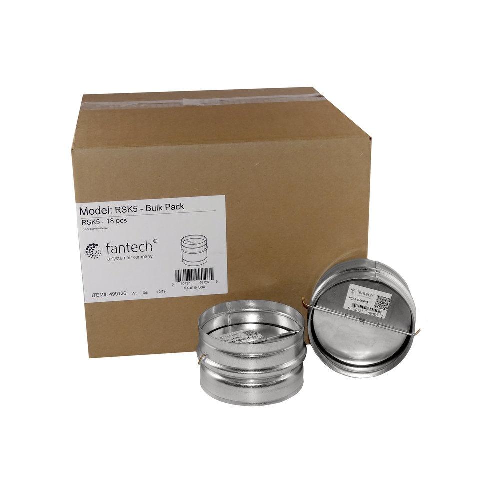 RSK 5 Bulk Pack, 18 pcs/carton - Dampers - Fantech