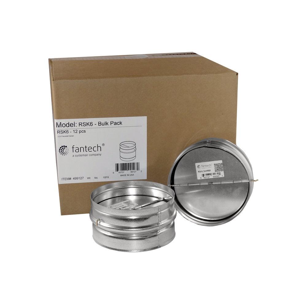 RSK 6 Bulk Pack, 12 pcs/carton - Dampers - Fantech