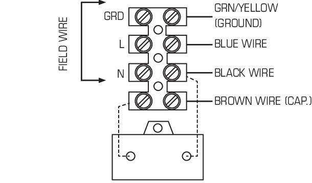 Images Wiring - RVF 10L Vent Extérieur - Fantech