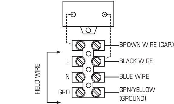 Images Wiring - PBW 110L7 Bath Fan w/ 1x LED - Fantech