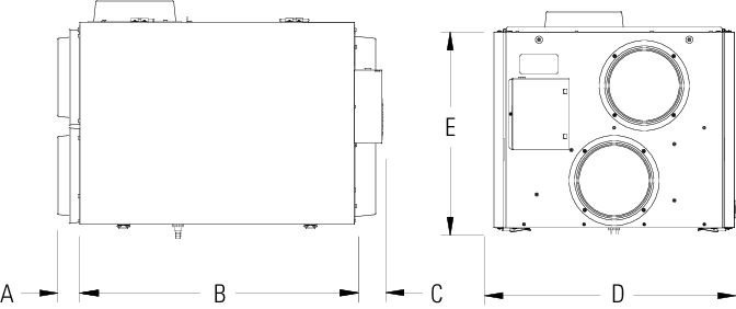 Images Dimensions - SHR260RD HRV - Fantech