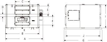 Images Dimensions - SER 1100 Energy Rec Vent - Fantech