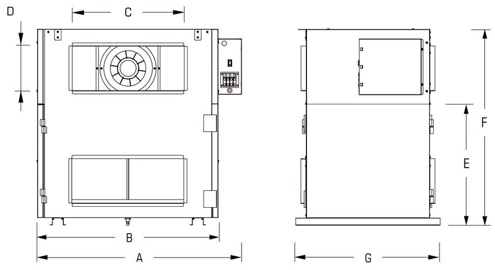 Images Dimensions - SHR 1400 Heat Rec Ventilator - Fantech