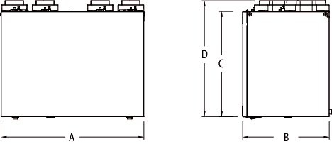 Images Dimensions - VHR 200R HRV - Fantech