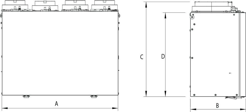 Images Dimensions - VHR70R ES Fresh Air Appliance - Fantech