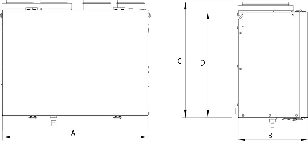 Images Dimensions - VHR70 HRV - Fantech